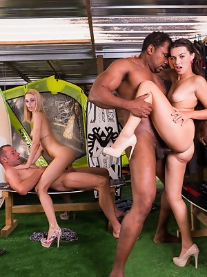 Erica and Tiffany Have an Orgy with Some Boys